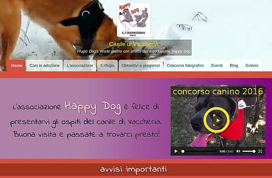 Home page del Canile di Vaccheria